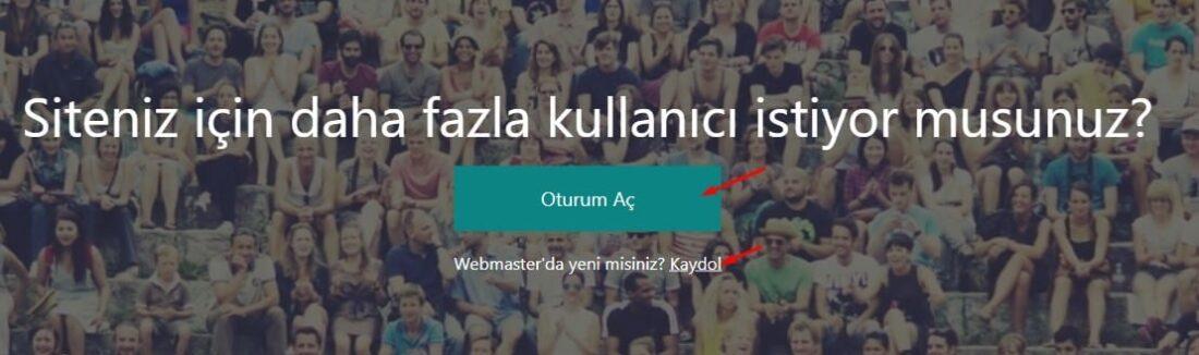 Bing Web Uzmanı Araçları Giriş
