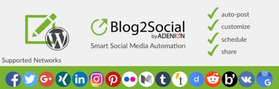 Blog2Social: Social Media Auto Post & Scheduler