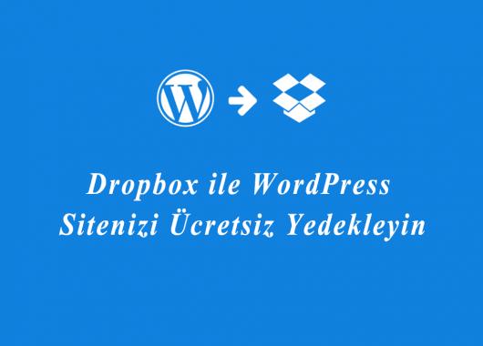 wordpress yedek alma dropbox