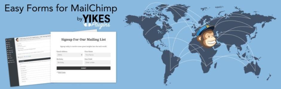 easy forms for mailchimp wordpress eklentisi