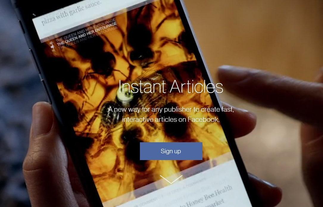 facebook instant articles hesap açma