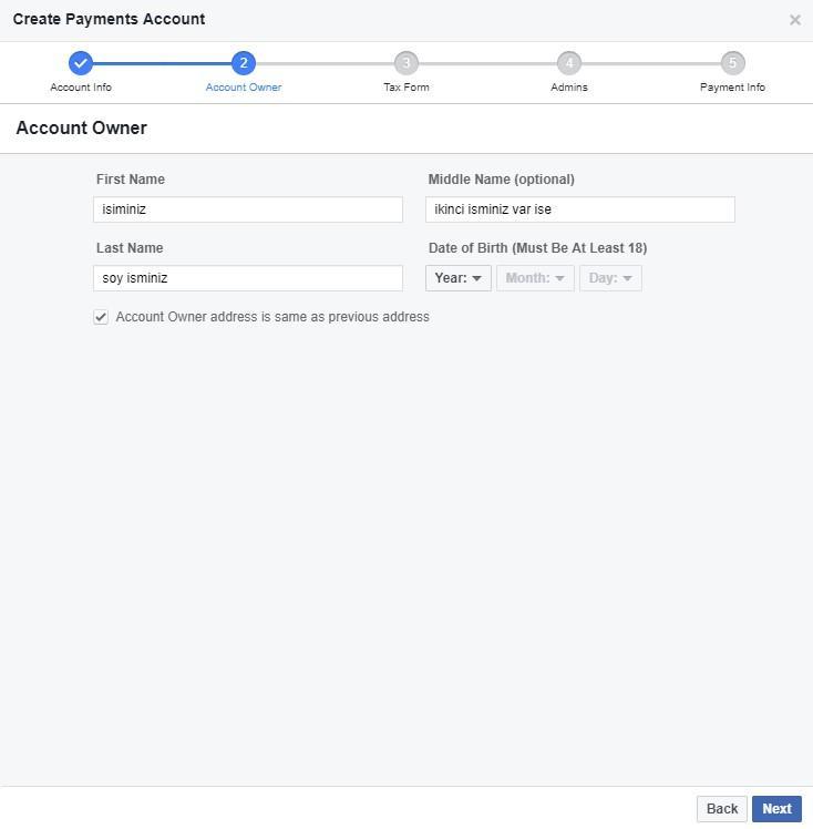 Facebook ödeme bildirimi 2