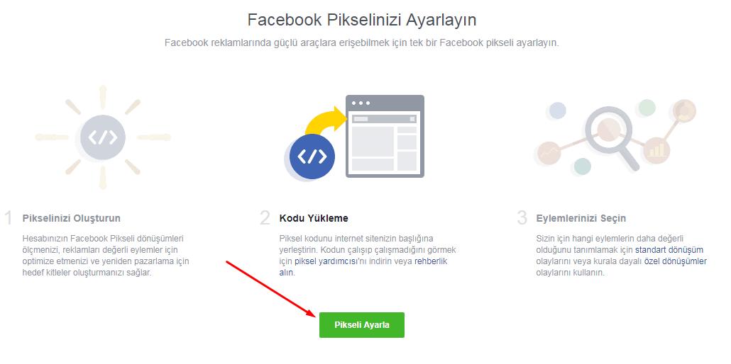 facebook piksel ayarlama