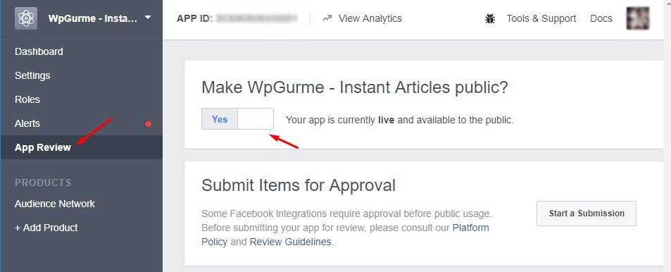 Facebook hızlı makaleler erişime açma