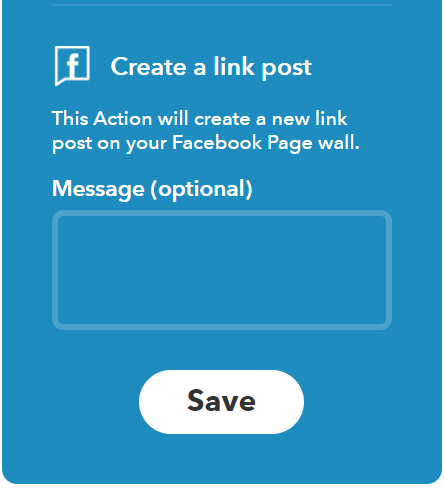ifttt facebook post