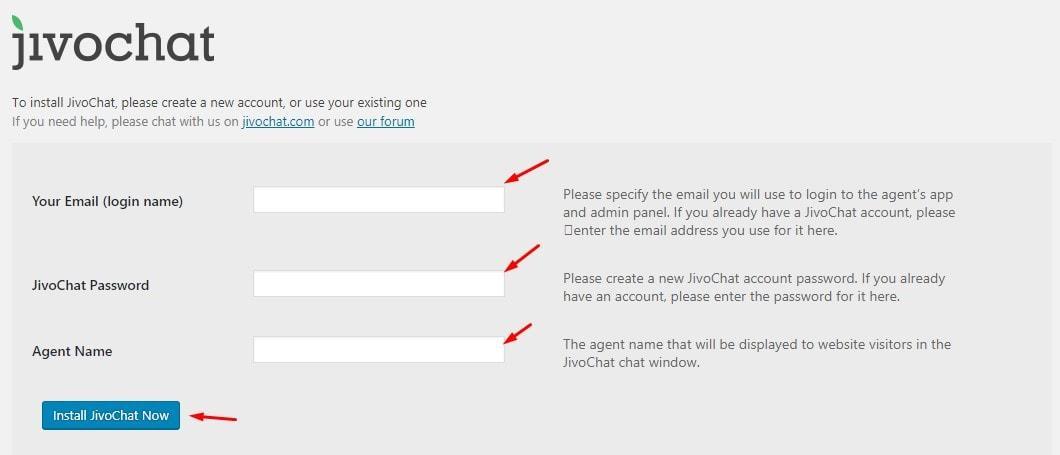 JivoChat WordPress Temel Ayarlar