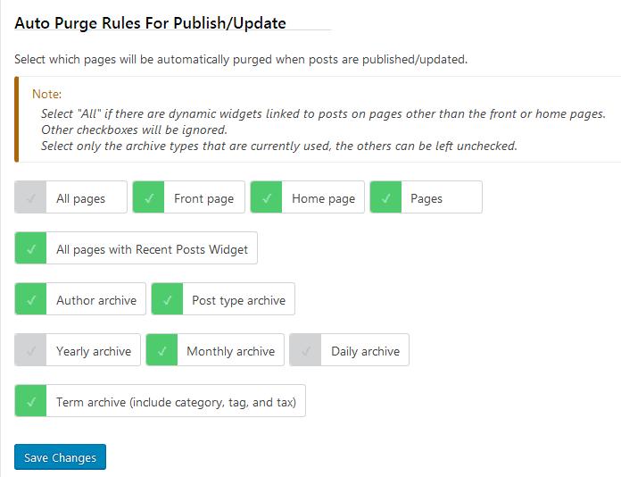 litespeed cache pruge rules ayarları
