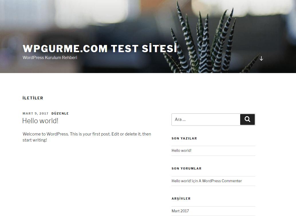 örnek wordpress sitesi