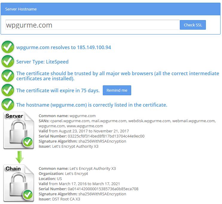 ssl sertifika testi