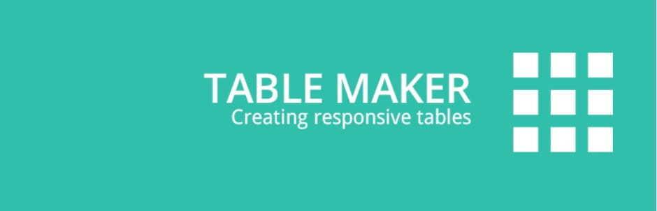 Table Maker WordPress Plugin