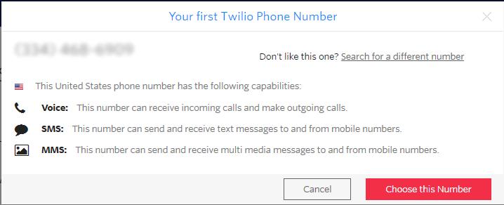 twilio sms numarası