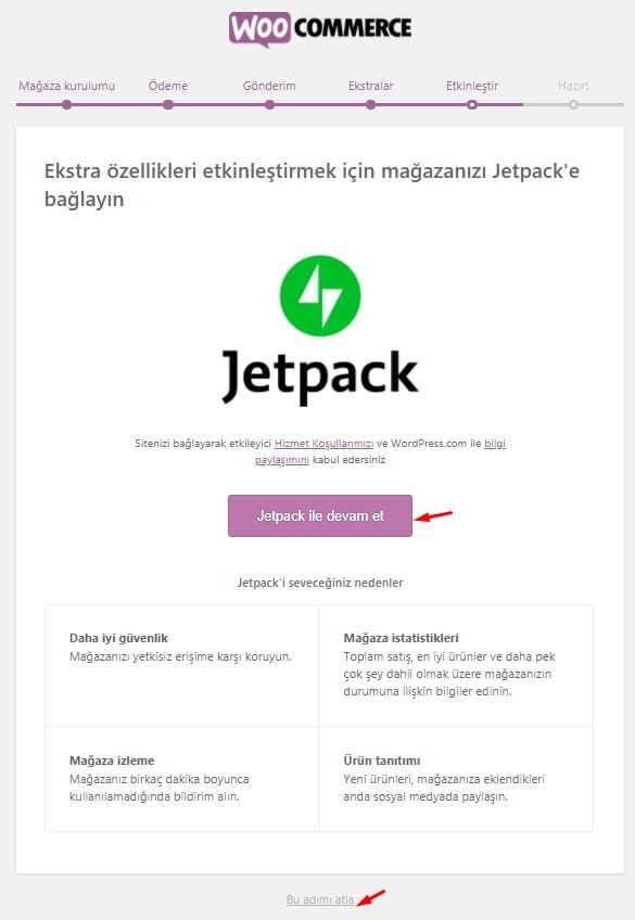 WooCommerce Jetpack Önerisi