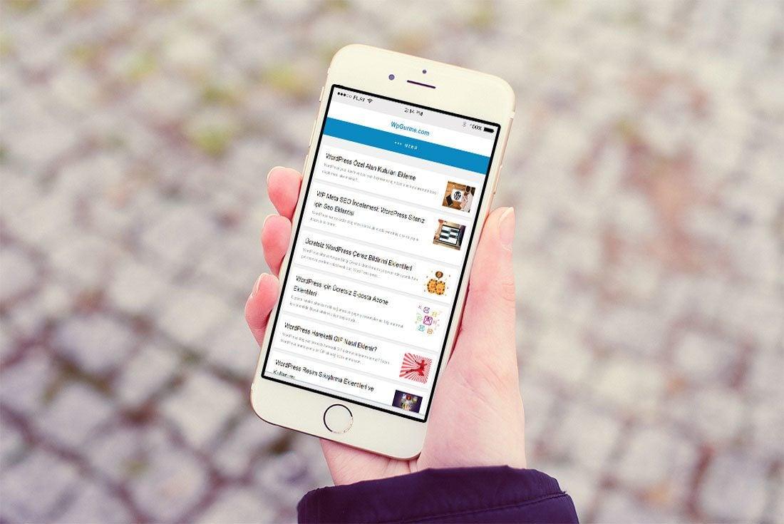 wordpress amp mobil görünüm