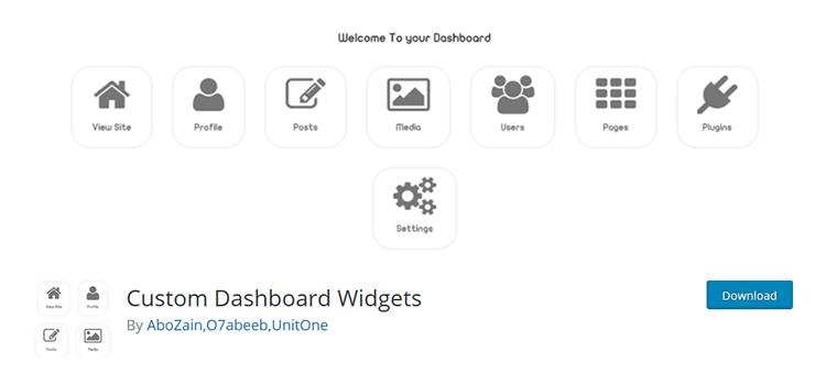 custom dashboard widgets wordpress eklentisi