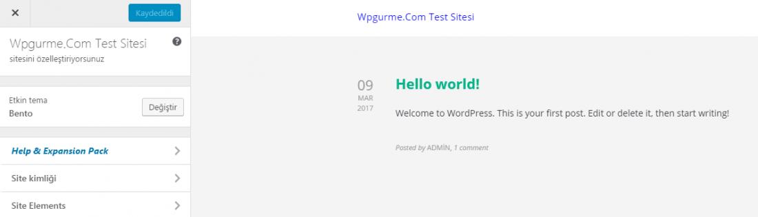 wordpress ozellestir