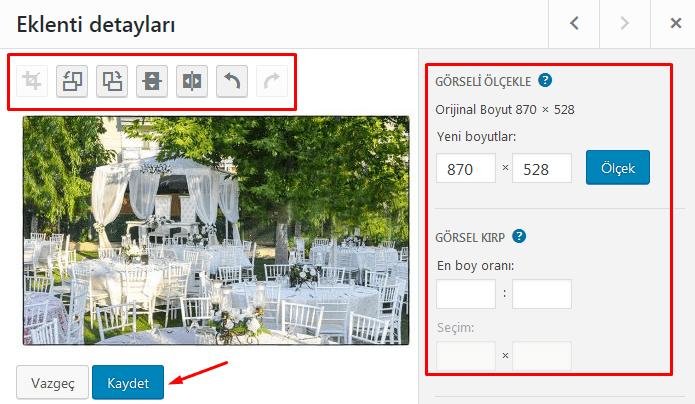 wordpress resim düzenleme işlemleri nasıl yapılır