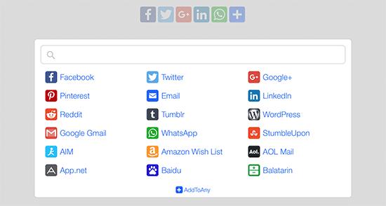 wordpress sosyal medya eklentisi addtoany