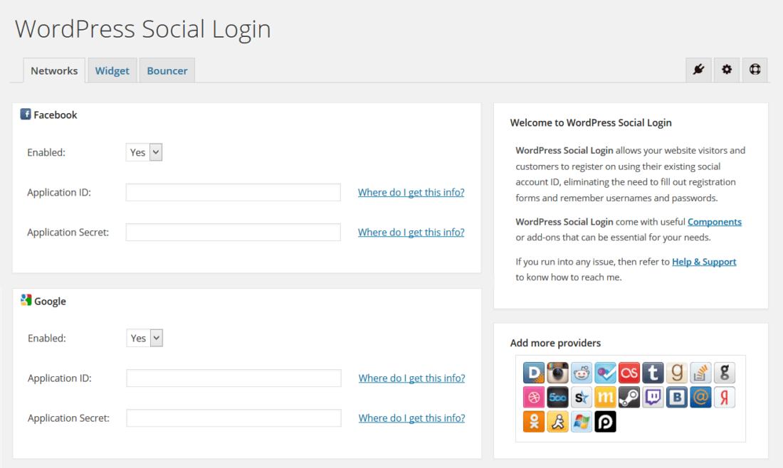 wordpress sosyal medya eklentisi wordpress social login