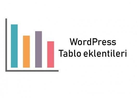 WordPress tablo oluşturma eklentileri