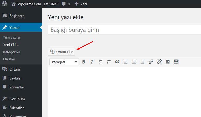 wordpress yazı içi resim ekleme