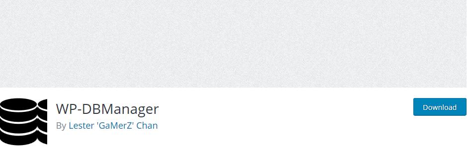 wordpress eklentisi wp-dbmanager