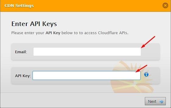 WP Fastest Cache CDN by Cloudflare Ekranı