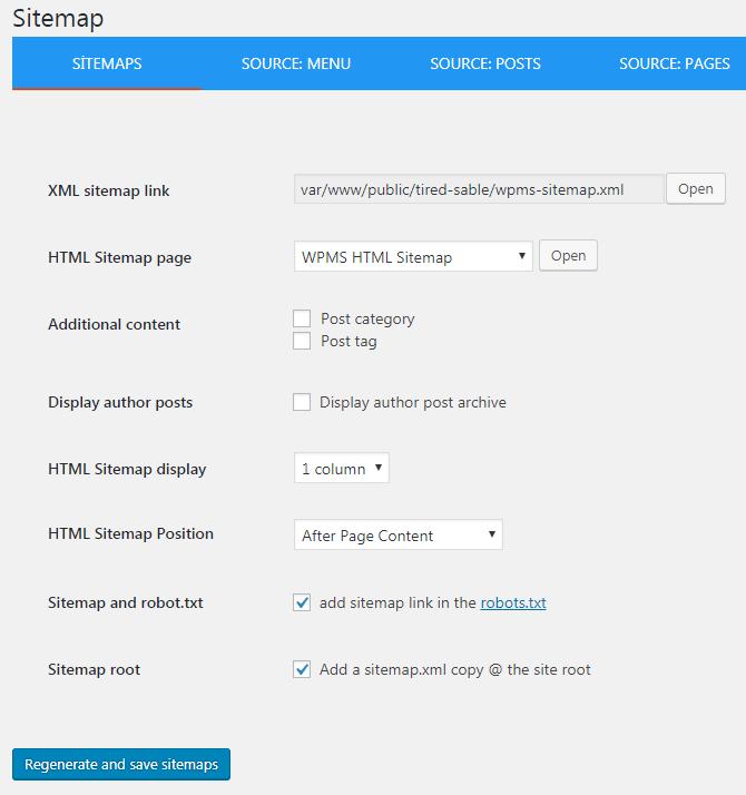wp meta seo site map ayarları