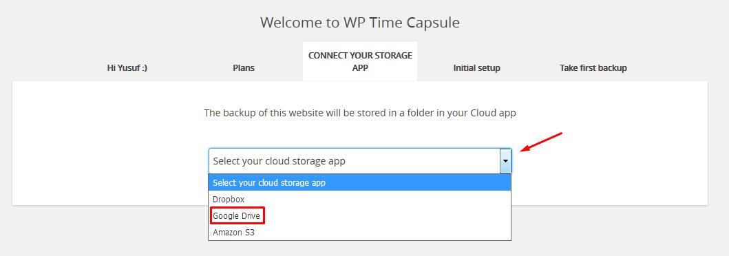 wp time capsule yedek saklama