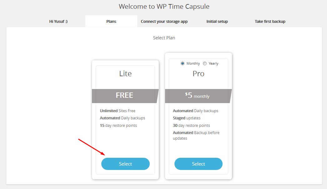 wp time capsule hizmet belirleme
